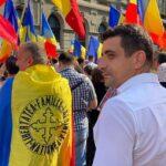 Nebunii și-au dat întâlnire la Universitate: Conduși de Șoșoacă și AUR, trompetele Rusiei au protestat faţă de posibile restricții pentru cei nevaccinați